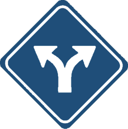 torsion bifurcation dark blue square sign