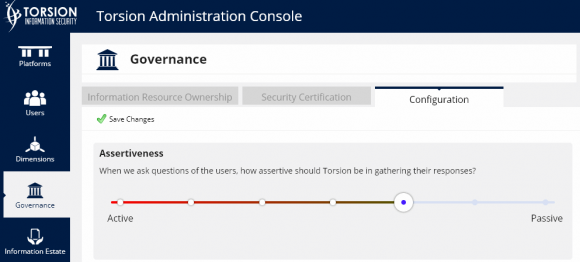torsion GUI - governance config