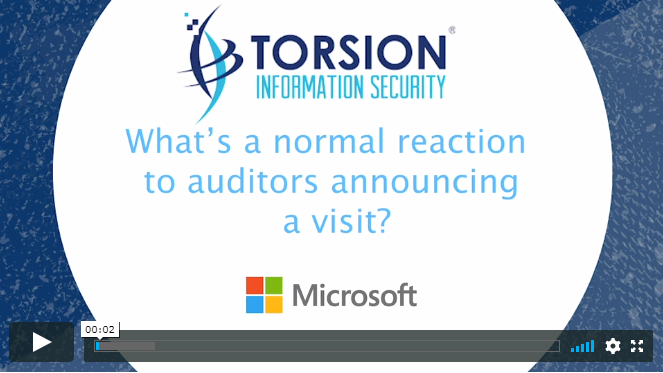 data governance Microsoft video auditors - What's a normal reaction to auditors announcing a visit?